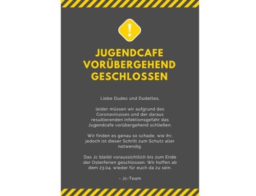 Jugendcafé bleibt vorübergehend geschlossen
