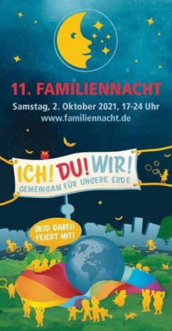 Werbeplakat für die 11. Familiennacht